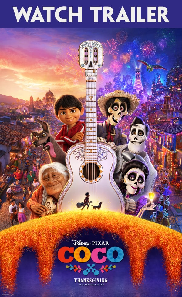 PIXAR COCO MOVIE, THANKSGIVING