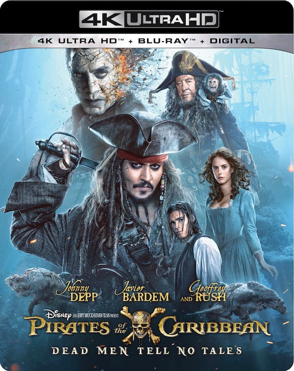 Pirates of the Caribbean blu-ray dvd