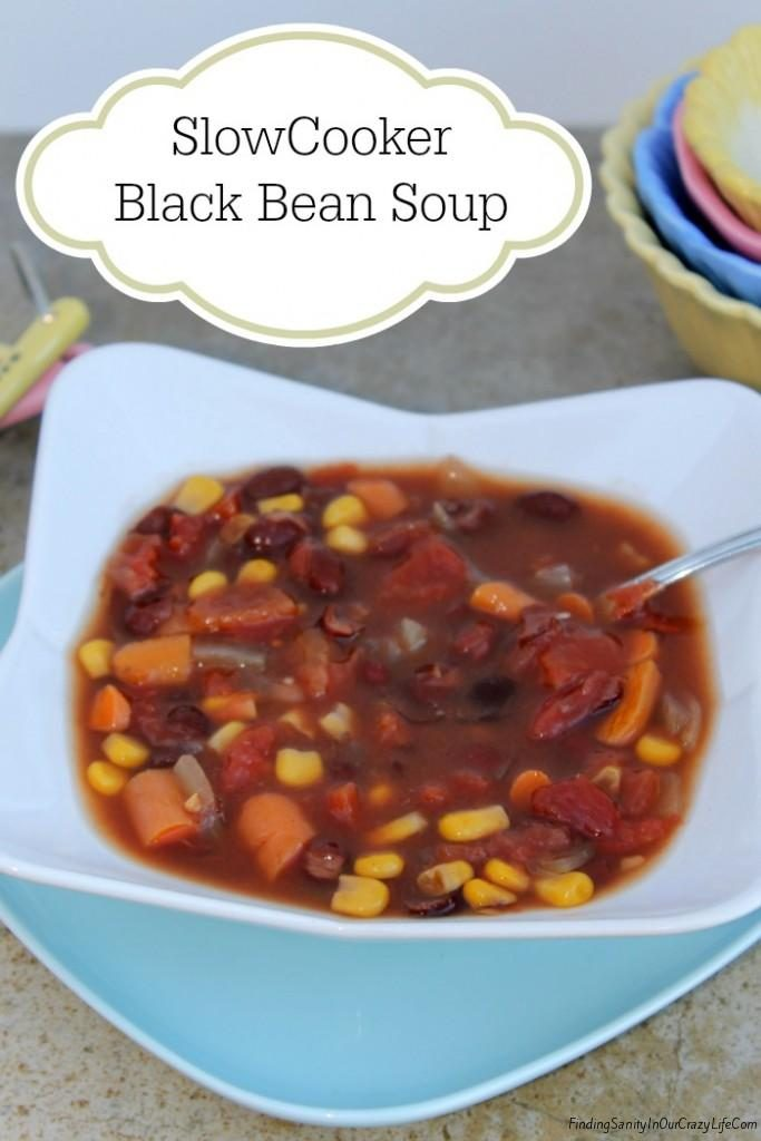 Black Bean Soup, Easy Dinners Recipe