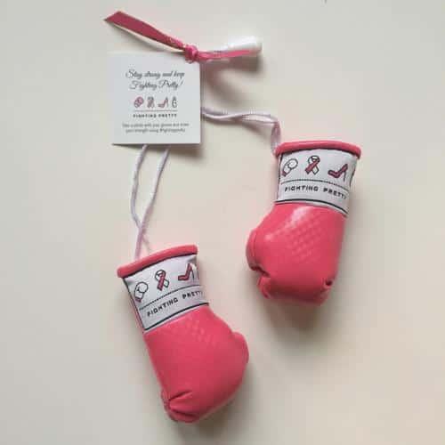 Fighting Pretty Boxing Gloves, Breast Cancer Awareness, Kara Skaflestad