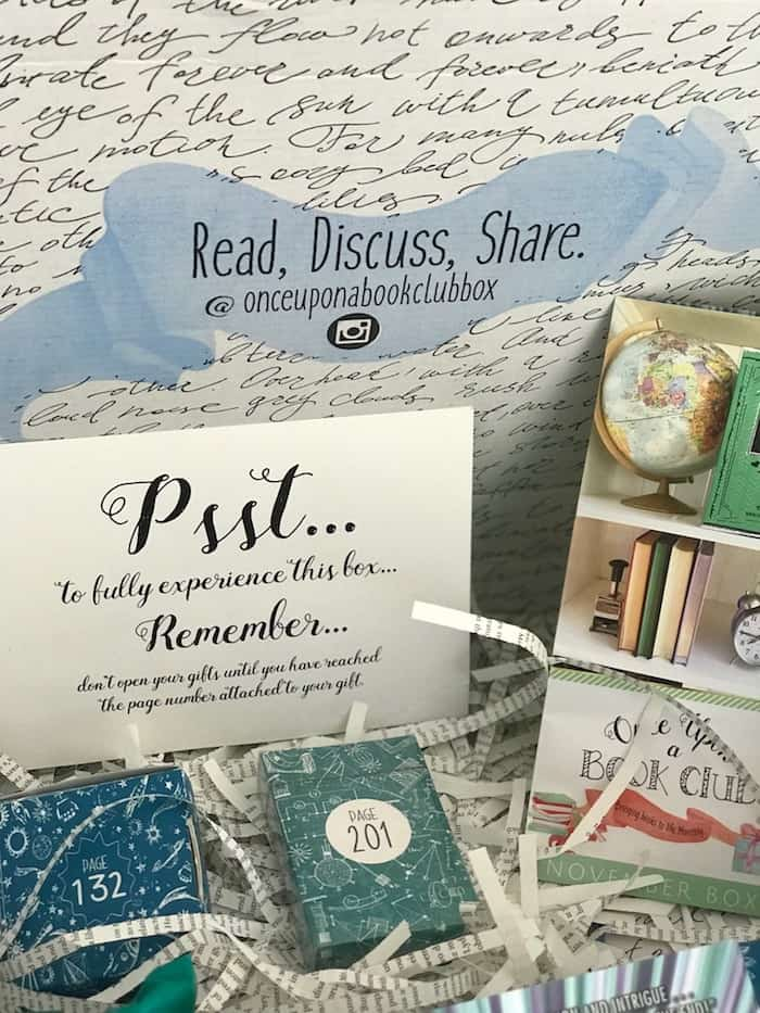 Once Upon a Book Club, subscription box, holiday gift guide, gift idea, stocking stuffer gift