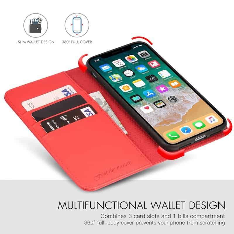 SHIELDON leather wallet phone case
