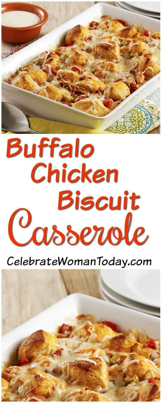 Buffalo Chicken Biscuit Casserole Recipe
