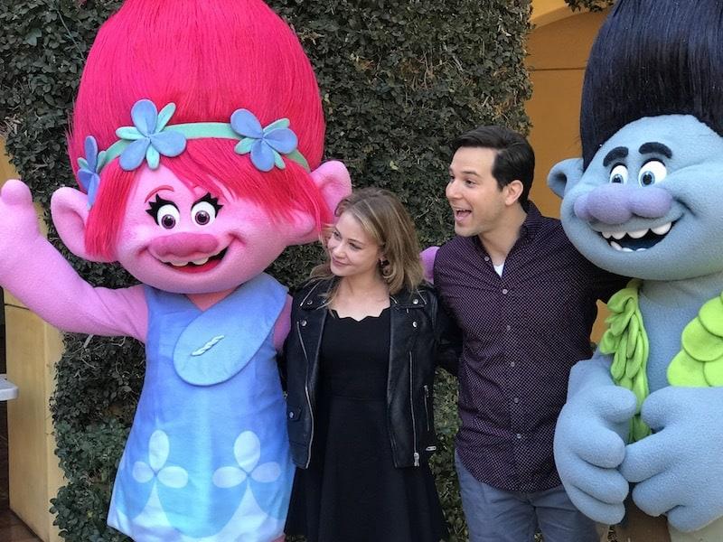 Actor Skylar Astin, Actress Amanda Leighton, Trolls The Beat Goes On, Netflix
