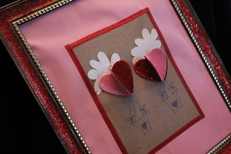 Valentine's Day Crafts, Hot Air Balloon Heart Cards Craft