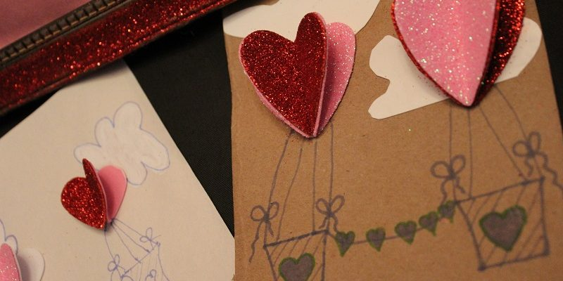 Make An Easy Valentine's Day Card Craft – Heart Hot Air Balloons