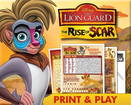 Disney The Lion Guard The Rise of Scar DVD, Disney Printables