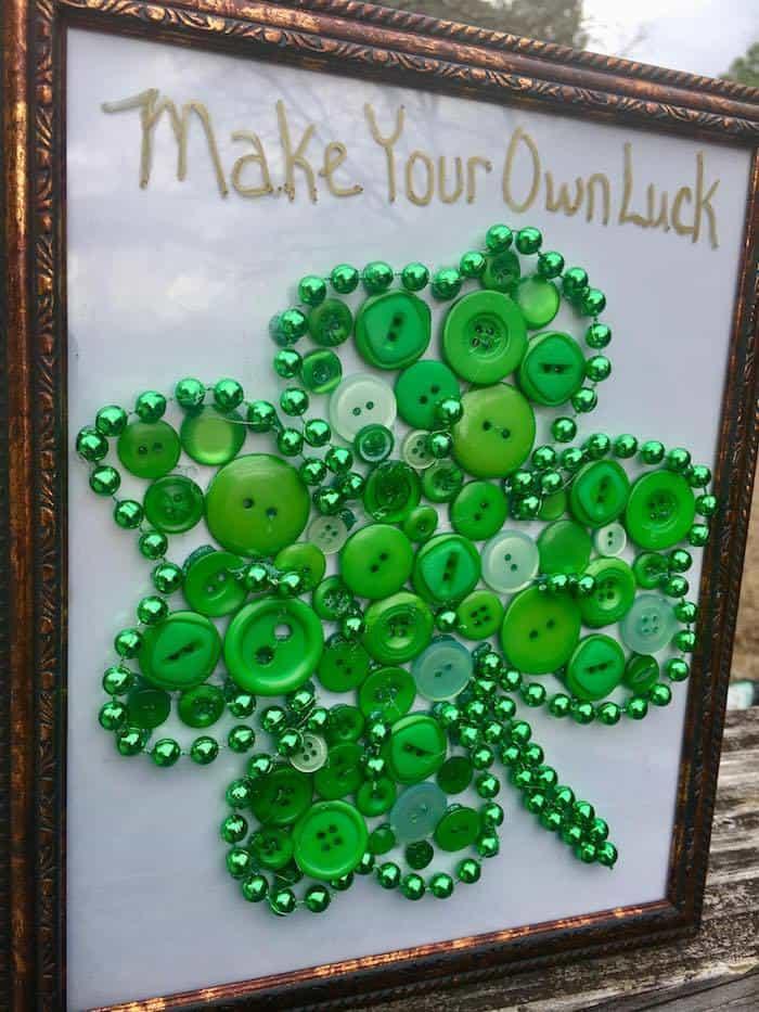 Button And Beats Shamrock Tutorial, St Patricks Craft Tutorial