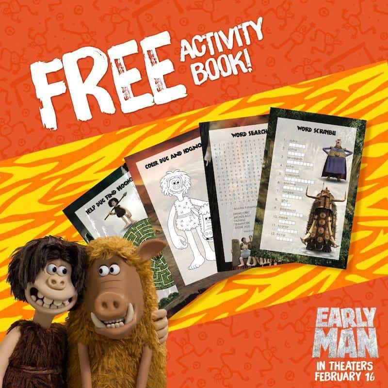 Lionsgate Early Man printables