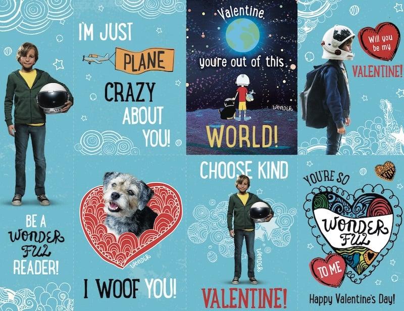 Valentine's Day Printables, Wonder PRINTABLES, Lionsgate WONDER movie
