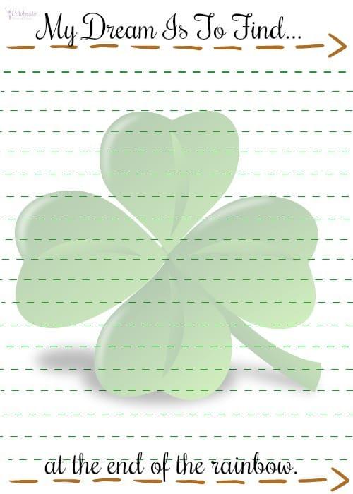 St. Patrick's Day Shamrock Printable for Kids