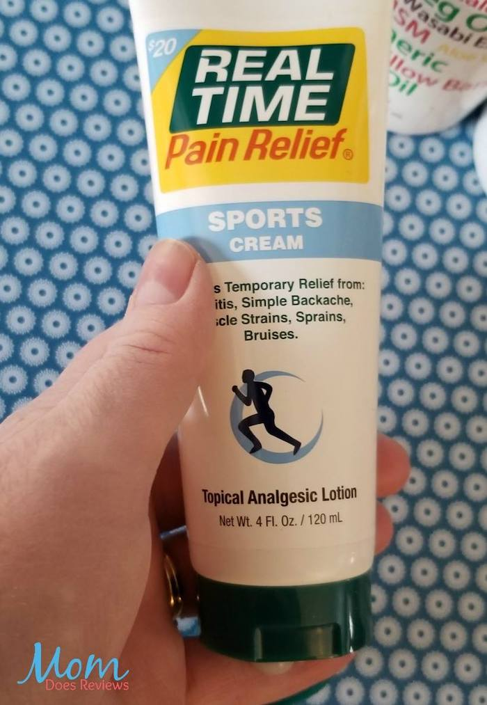 Hemp-based sports cream by Real Time Pain Relief