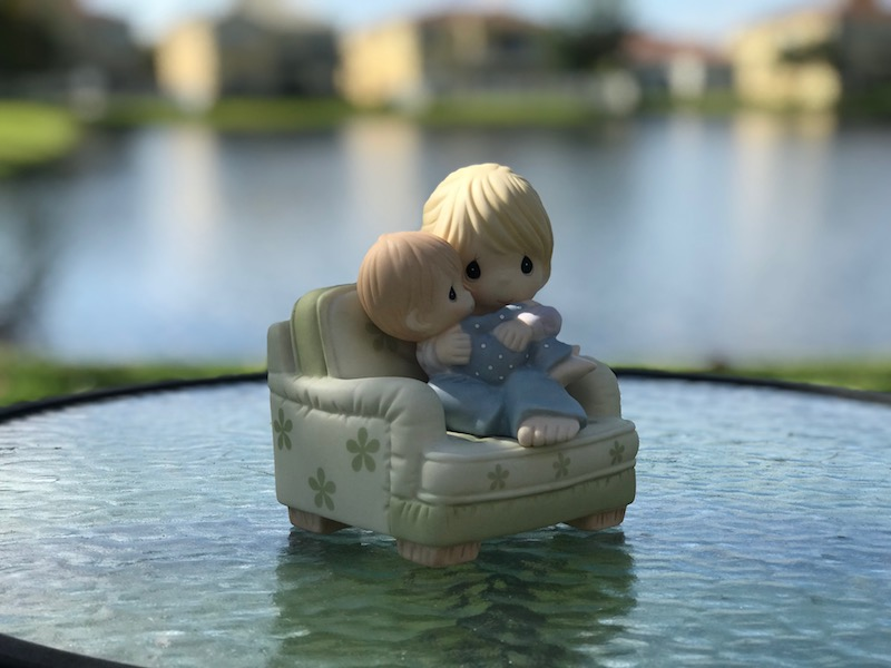 Gifts women want, Precious Moments figurine NESTLED IN YOUR LOVE