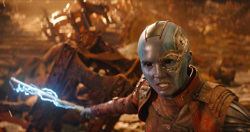 Brilliant MARVEL Cast AVENGERS: INFINITY WAR Nebula, Actress Karen Gillan