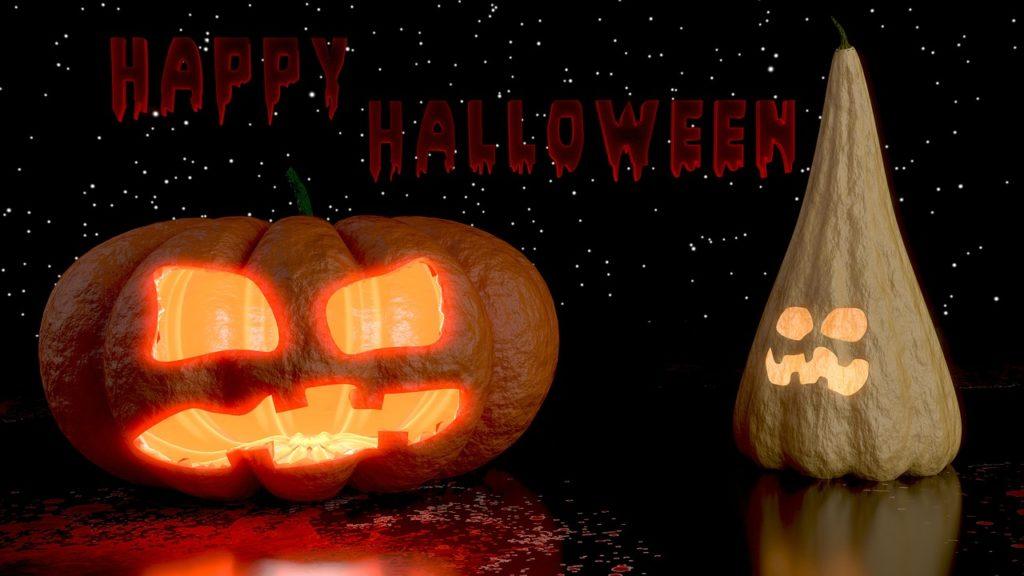 halloween crafts, glowing pumpkins
