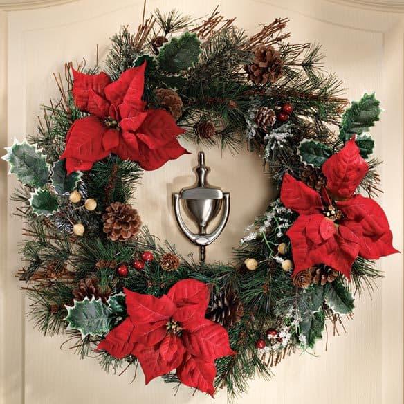 poinsettias wreaths, succulent wreaths