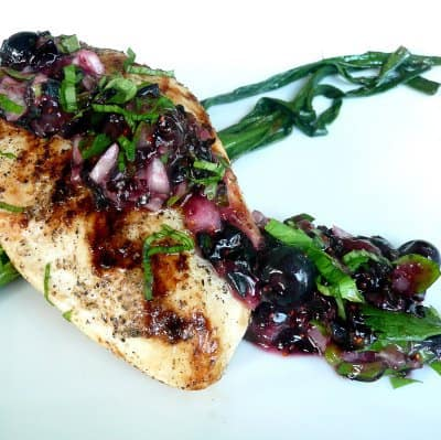 Basil Plus Blueberries Equals Delectible Salsa