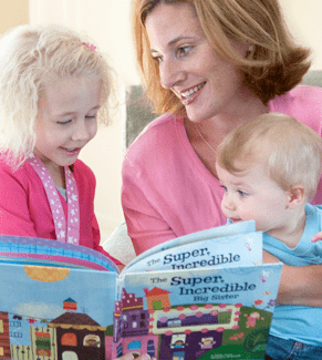 Mom-reads-with-son-daughter