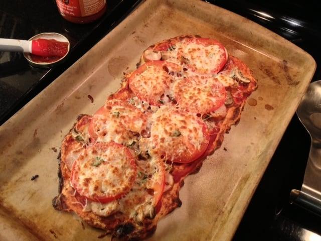 gluten free pizza recipe, riced cauliflower