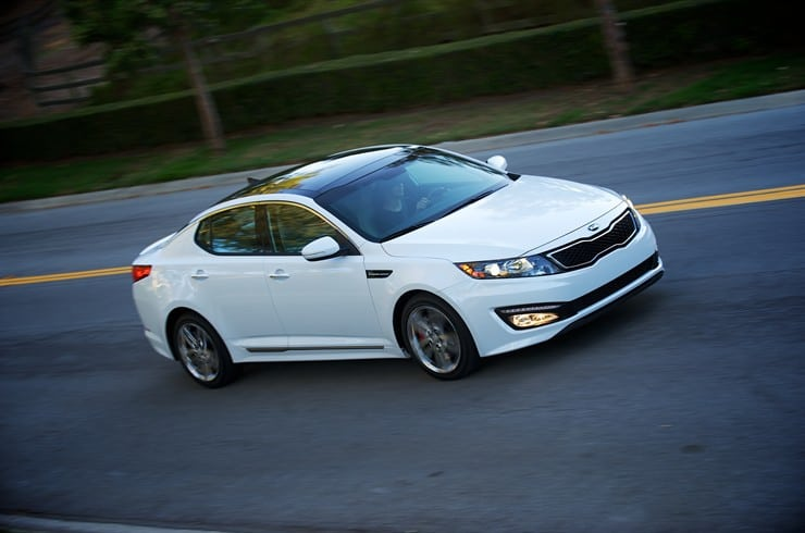 KIA Optima in motion