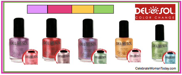 Flash Your DelSol Nail Polish Changing Colors In Summer Time