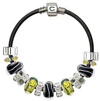 BlackWhiteYellow-beads-bracelet
