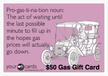 $50 Gas Gift Card For A Prize