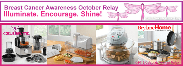 Illuminate. Encourage. Shine. Breast Cancer Awareness October Relay. Healthy Cooking With Active Living.