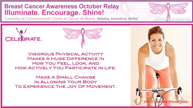 vigorous physical exercise breast cancer awareness