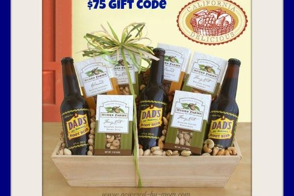 Win $75 Gift Card to California Delicious Gift Baskets to Spoil Your Dad on Father's Day!