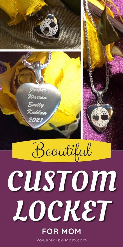 personalized silver heart locket necklace