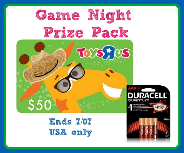 Toys R Us Gift Card : Game night prize pack with toys r us gift card
