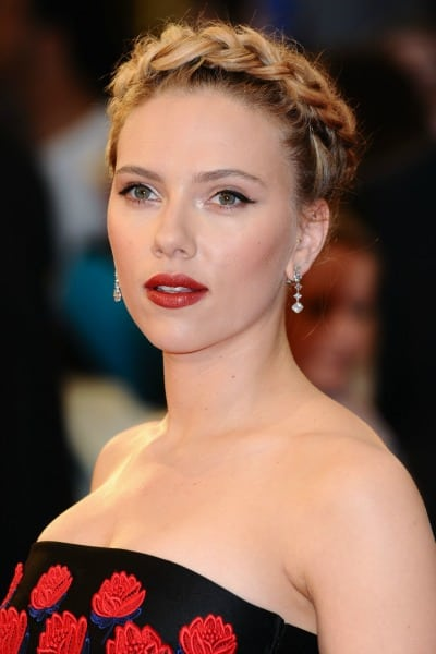 Braided Hair Scarlett Johansson