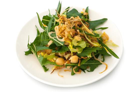 Chickpea Dandelion Salad
