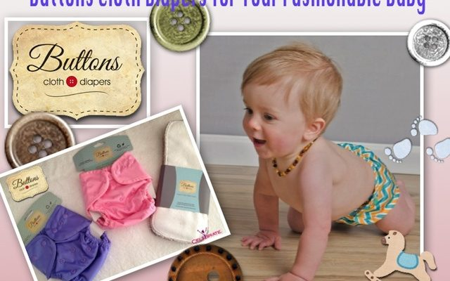 Add Some Buttons Cloth Diapers to Your Baby's Comfort