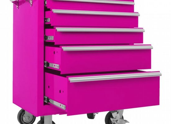 Handy In Pink 5-Drawer Tools Cabinet Would Solve Your Clutter!
