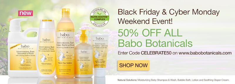 black friday cyber monday babo botanicals