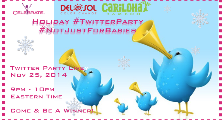 Cariloha And DelSol Twitter Party with Holiday Prizes #NotJustForBabies