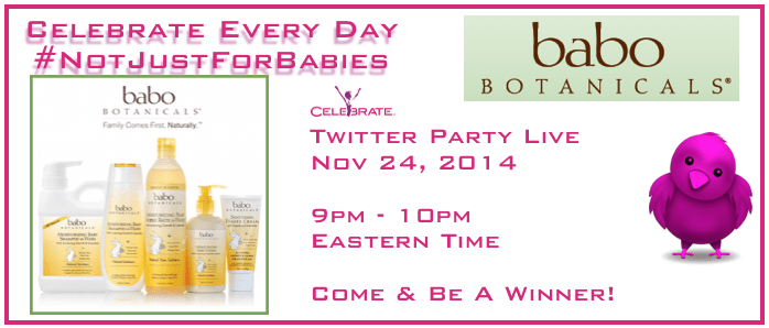 Twitter Party Babo Botanicals 2014 Black Friday