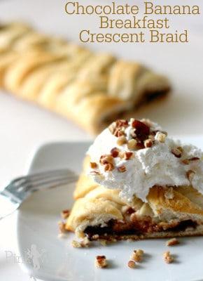 chocolate banana breakfast braid – easy Christmas Breakfast Recipes