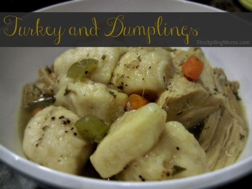 turkey and dumplings recipe