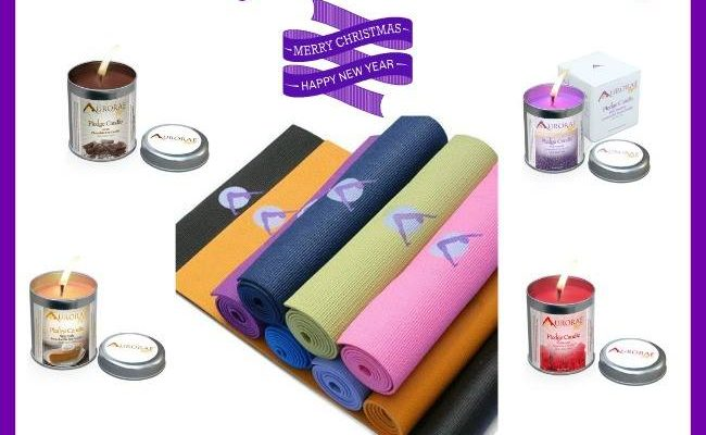 Find Your Center With The Aurorae Candle & Yoga Mat