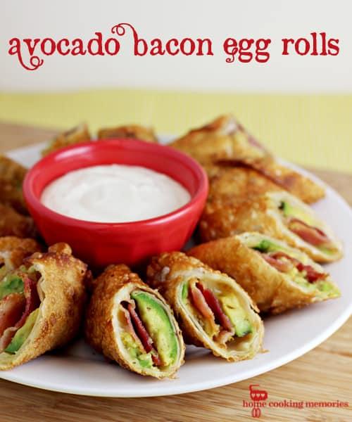 avocado bacon eggrolls