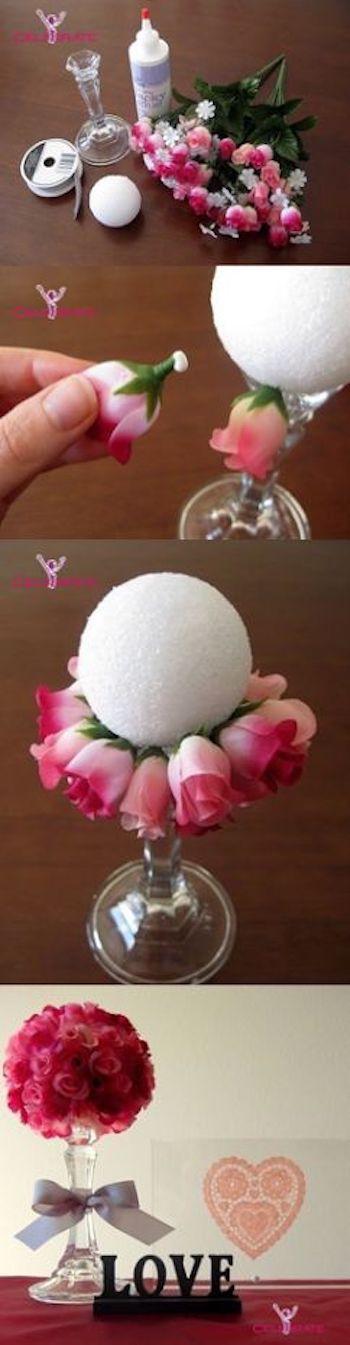 Valentine's Day Floral Bouquet Craft