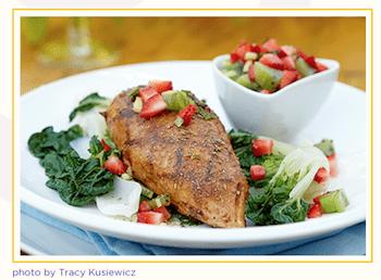 BBQ Chicken On Bok Choy Recipe