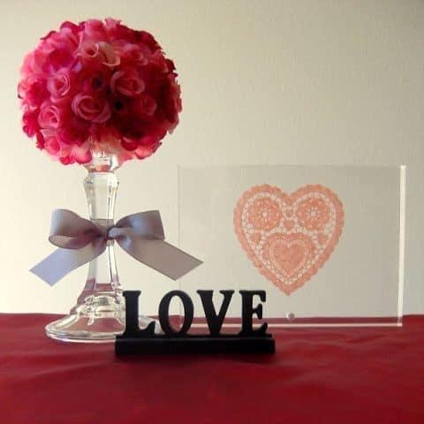 Valentine floral bouquet craft