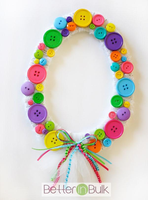 easter egg wreath, easter crafts