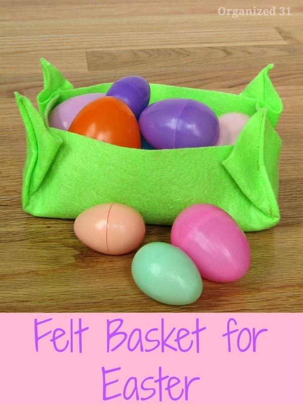 felt easter basket easter crafts