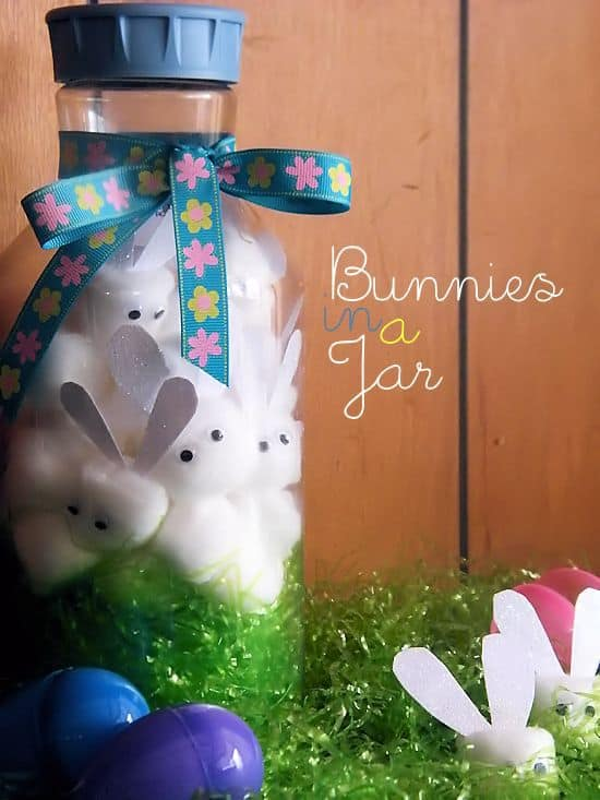 easter bunnies in a jar, easter crafts