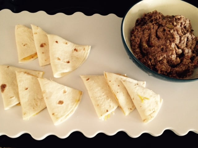 Black Beans Dip with Quessadilla Bites 2
